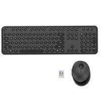 Keyboard Souris Combos pour PC Optique Optique ergonomique Ergonomique Fiche et Play Portable Shallish 2.4GHz Office Wireless Combo