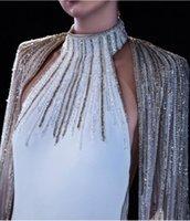 Women dress Yousef aljasmi Evening dress High neck White Cape Long sleeve Mermaid Labourjoisie Kim kardashian kylie jenner