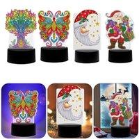 DIY LED 다이아몬드 그림 밤 조명 7 컬러 램프 패드 아크릴 보드 종교 특별한 모양의 다이아몬드 자수 크리스마스 빛