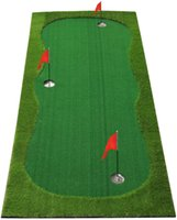 Golf koyarak Yeşil / Mat-golf Eğitim Mat-Profesyonel Golf Uygulaması Mat- Kapalı / Açık için Yeşil Uzun Zorlu Putter