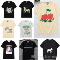 Donners Designer Donners T-shirt magliette Moda stampa stampa manica corta Cat Lady Tees Abbigliamento casual 21SS T-shirt abbigliamento 0101auz8 #