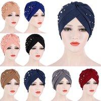 Этническая одежда Женщины Мусульманские Бусины Химирова Cap Turban Внутреннее Hijab Шарф Головные Уидравый Исламский Раковой Шляпа Шляпа Покрытие волос Обложка Headscarf Beanie Bo