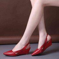 Sandals Sandálias de salto bico fino, sapatos da moda para mulheres, verão, ponteagudo, calçado com alça traseira vazada, Z8I2