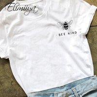ÉLIMIYYA T-shirt Femmes Bee Gentilh Tshirt Overdim Overdimal Tshirt Supérieur Coton Graphiques T-shirts T-shirts T-shirts Femme T-shirt Femmes 210302