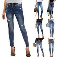 Women's Jeans Skinny Fashion Casual Elastic Slim Denim Ankle-Length Pencil Pants S-2XL Drop