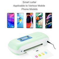 Yeni Otomatik Mini Film Kesme Makinesi Plotter Akıllı TPU Hidrojel Sac Filmler Cep Telefonu Ekran Koruyucu Iphone 12