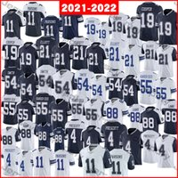 2021-2022 Футбольные майки 4 Dak Prescott 11 Micah Parsons 19 Amari Cooper 21 Ezekiel Elliott 54 Smith 55 Leighton Vander Esch 88 Ceeneee Lamb