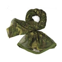 Cycling Caps & Masks 180x80cm Scarf Cotton Military Camouflage Tactical Net Camo Mesh Sniper Face Veil Camping Hunting Outdoor Hiking Scarve