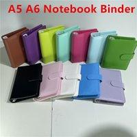 A5 A6 PU Couro Notebook Binder Lote Folha Notebooks Recarregável 6 Ring Binder para A6 Filler Paper Phinder Cover com fecho de fivela magnética