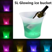 Studyset 5L Светящиеся светодиодные ведра со льдом Blue Light Champagne Wine Pet Pire lede Cooler для KTV Party Bar