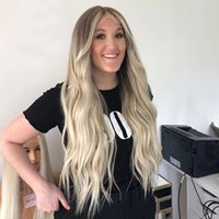 Transparent 13x6 Lace Front Human Hair Wigs Mongolian 150Density Ombre Cream Blonde Full Laces Wig for Black Women Remy 13x4lace Fronts Bleached knots