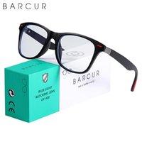 Barcur retro blau light blockiergläser computer glas rahmen männer glas frauen trend styles marke optische lesen