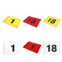 Golf Training Aids Putting Green Flag - Target Number 1 Or 18 Outdoor Backyard Garden Sports Aid Choose Colors