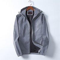 2021 Concepteur Vêtements d'extérieur Running HIP HOP STAND MEN VESTEMES Manteaux avec fermeture à glissière classique Casual Letter Print Brise-vent à manches longues M-3XL Taille