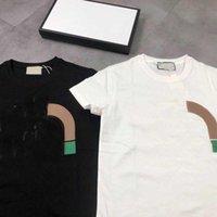 2021 패션 티셔츠 남성 탑스 편지 관절 인쇄 망 여성 의류 반팔 티셔츠