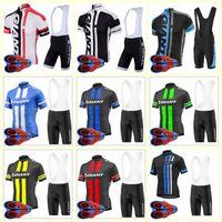 Giant Team Cycling Maniche corte Jersey Bib Pantaloncini Pantaloncini Commercio all'ingrosso 9D Gel Pad Top di qualità Bike Bike Sportwear U82008