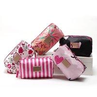 패션 화장품 가방 큰 대 방수 나일론 지퍼 휴대용 메이크업 가방 여행 크기 세련된 화장품 저장 케이스 무료 DHL 선적