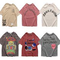 T-shirt de Kanye de haute qualité West Dimanche Service commémoration commémoration surdimensionnée des chemises à manches courtes lâches