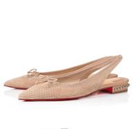 Billig luxus frauen rote boden hall sling ballerinas wohnungen berühmte dame shingback spezige zee frauen ballet bequeme wanderschuhe eu35-43