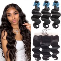 Virgin Human hair Brazilian Indian Straight Bodywave Curly 3&4 Bundles with 13*4 Lace Frontal