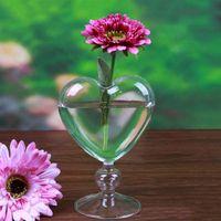 Jarrones de vidrio de cristal maceta de flores de cristal de escritorio jarrón jarrón plantador contenedor decoración del hogar boda fiesta decoración au06 21 gota