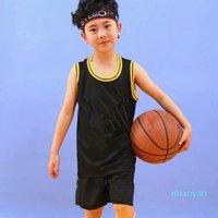 Kids Basketball Jerseys Clothing Sets Teenage Clothes Student Boys Girls School Sports Tracksuits Children Shirts Pants Shorts 85-165cm 034