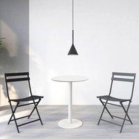 작은 둥근 협상 테이블 북유럽 간단한 디저트 커피 숍 아이언 아트 테이블 야외 가구