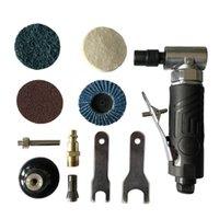 Güç Aracı Setleri 1/4 inç Hava Açısı Kalıp Öğütücü 90 Derece Pnömatik Taşlama Makinesi 4 Collets + 2 Anahtarlı Seti Kes