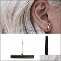Jewelrypunk Simple T Ear Stud Line Earrings For Women Girls Jewelry Fashion Minimalist Earring Valentines Day Gift Drop Delivery 2021 Jswe4