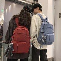 School Bags Backpack Fashion Waterproof Nylon Women For Girls Travel High Capacity Student Men Black Laptop Bag