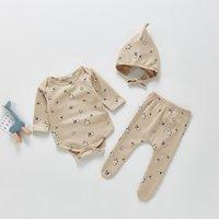 의류 세트 3pcs 아기 소녀 의류 세트 태어난 아이들 Childern 유아 인쇄 복장 유아