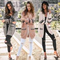 Boho Feminino Mujer Cardigans Cardigans Mujeres Punto De Punto Abrir Delantero De Manga Lana Cardigan Sweater Abrigo Outwear Ljjiwg5