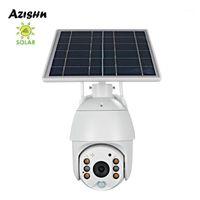 Azishn solar painel 1080p ptz wifi wifi câmera IP de dois sentidos áudio ao ar livre à prova d 'água 2mphome segurança câmera sem fio pir motion1
