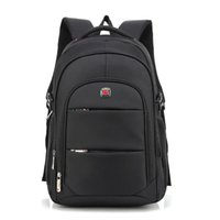 Backpack Waterproof Solid Men Laptop Bags Black Bookbag USB Charger Male Schoolbag Travel Oxford
