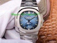 PF Nautilus ежегодный календарь Moonphase 5726 мужские часы роскошные часы SWISS 324SC Автоматический 28800VPH синий циферблат сапфировый кристалл