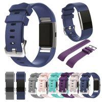 Para Fitbit Care 2 correas de muñeca TPE pulsera de reemplazo de reemplazo de accesorio a cuadros de reloj inteligente con hebilla metálica