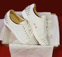 Бременная обувь Seawaste 2 Orlato Red Bottom Junior Spikes Trainers Real Calfskin Патентные замшевые кожаные обуви Мужчины Плоская вечеринка Свадебные туфли