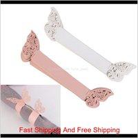الأبيض الوردي اللون فراشة منديل الدائري serviette ورقة حامل الإبداعية حفل زفاف مأدبة الجدول الديكور 250 قطع cueqs gh2fo