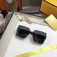 lunettes de soleil de luxe de luxe rétro 2021 rétro Lunettes de soleil de luxe Hommes and Womes Beach miroir Framedeless UV400 PC Lens avec carte Lunettes de soleil de la carte de bronzage