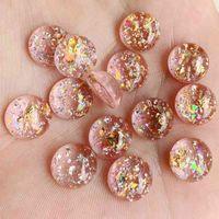 300 قطع 5 * 12 ملليمتر ملون براق شل شقة الظهر حجر الراين القصاصات diy الزفاف نصف حبة مجوهرات زخرفة الحرفية -B54