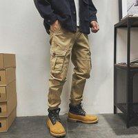 Men's Pants Cotton Cargo Men Big Pocket Joggers Casual Sport Sweatpants Streetwear Fashion 2021 Techwear Clothes