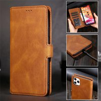 Wallet Phone Cases for iPhone 13 12 11 Pro Max X XS XR 7 8 Samsung Galaxy S21 S20 Note20 Ultra Note10 S10 Plus A72 A52 5G Retro PU Leather Flip Stand Cover with Photot Frame