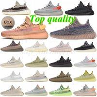 # With box # 3M Светоотражающий Kanye West V2 Женщины мужские Беговые Обувь Егерская Золеная Каменная глиняная Глиняная Земля Пустыня Мужчины Carbon Carder Спортивные кроссовки 36-46