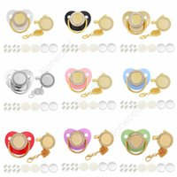 Customize Sublimation Bling Pacifier with Clip Necklace Crystals Party Favor For Baby Keepsake Brithday Gift DAN414