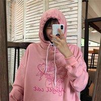 Women's Hoodies & Sweatshirts Japanese Harajuku Ulzzang Vintage Ins Cupid Print Sweatshirt Female Korean Kawaii Cute Clothing For Women