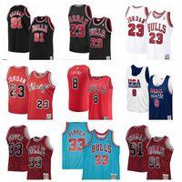 2021 Basketbol Formaları Chicago Bulls Jersey Michael Jordan 23 Scottie Pippen 33 Zach Lavine 08 Dennis Rodman 91 Steve Kerr 25 Dikişli Boyut S-XXXL Nefes
