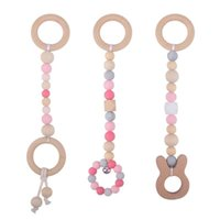 Baby Teether Toys Wooden and Silicon Bead Original Design Infant Pacify Accessories Eco-Friendly Babies Toy