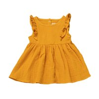 아기 소녀 드레스 아동복 여름 거품 프릴 슬리브 공주 드레스 스커트 투투 파티 생일 클럽 드레스 H237SDG