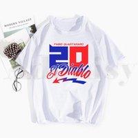 Camisetas para hombre Fabio Quarararo Logo Francés Movistar T Shirts Primavera Tops Tees Hombres Mujeres Manga corta Camisa Casual Streetwear Divertido