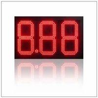 12 pollici della stazione di servizio Segno di prezzo Led da esterno Segni rossi Verde Blu Bianco Bianco Cifre singole di colore 8.888 8.889 / 10 con telecomando RF